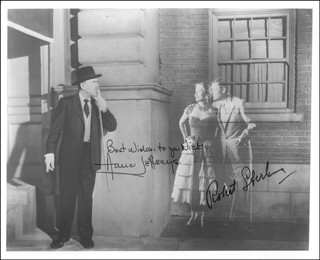 TOPPER TV CAST - AUTOGRAPHED SIGNED PHOTOGRAPH CO-SIGNED BY: ROBERT STERLING, ANNE JEFFREYS