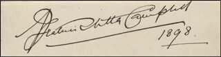 MRS. PATRICK (BEATRICE STELLA TANNER CAMPBELL) CAMPBELL - AUTOGRAPH 1898