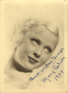 MARY CARLISLE - AUTOGRAPHED INSCRIBED PHOTOGRAPH 1934