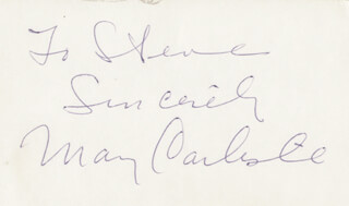 MARY CARLISLE - AUTOGRAPH NOTE SIGNED