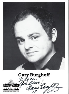 GARY BURGHOFF - AUTOGRAPHED INSCRIBED PHOTOGRAPH