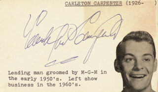 CARLETON CARPENTER - PRINTED PHOTOGRAPH SIGNED IN INK