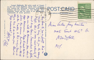 LEO G. CARROLL - AUTOGRAPH POST CARD SIGNED 05/16/1951