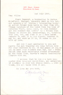 LEO G. CARROLL - TYPED LETTER SIGNED 07/02/1966