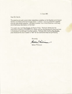 ESTHER WILLIAMS - TYPED LETTER SIGNED 06/11/1992