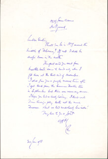 LEO G. CARROLL - AUTOGRAPH LETTER SIGNED 01/24/1951