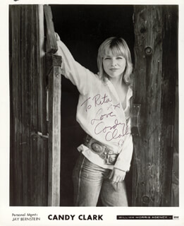 CANDY CLARK - AUTOGRAPHED INSCRIBED PHOTOGRAPH 1980