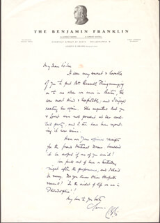 LEO G. CARROLL - AUTOGRAPH LETTER SIGNED
