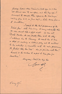 LEO G. CARROLL - AUTOGRAPH LETTER SIGNED 05/15/1950
