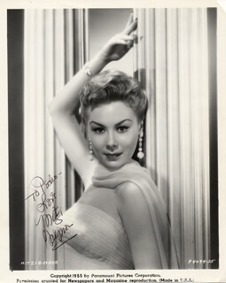 MITZI GAYNOR - INSCRIBED PRINTED PHOTOGRAPH SIGNED IN INK