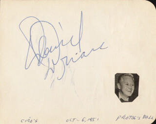 DAVID BRIAN - AUTOGRAPH CO-SIGNED BY: MARSHALL THOMPSON