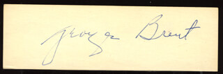 GEORGE BRENT - CLIPPED SIGNATURE