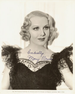 MARY BRIAN - AUTOGRAPHED SIGNED PHOTOGRAPH