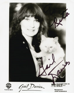 GAIL DAVIES - AUTOGRAPHED INSCRIBED PHOTOGRAPH
