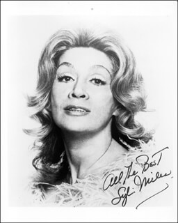 SYLVIA MILES - AUTOGRAPHED SIGNED PHOTOGRAPH