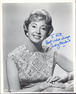 AUDREY MEADOWS - AUTOGRAPHED SIGNED PHOTOGRAPH