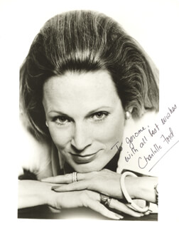 CHARLOTTE FORD - AUTOGRAPHED INSCRIBED PHOTOGRAPH