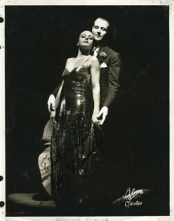 VELOZ & YOLANDA - AUTOGRAPHED INSCRIBED PHOTOGRAPH 1937 CO-SIGNED BY: VELOZ & YOLANDA (YOLANDA CASAZZA)