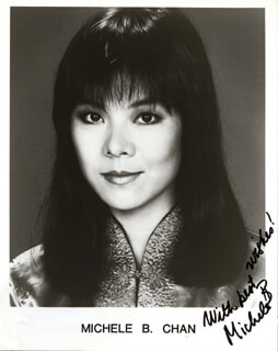 MICHELE B. CHAN - AUTOGRAPHED SIGNED PHOTOGRAPH