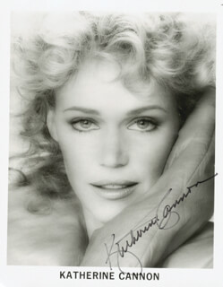 KATHERINE CANNON - AUTOGRAPHED SIGNED PHOTOGRAPH