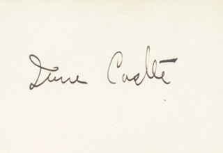 Autographs: IRENE CASTLE - SIGNATURE(S)