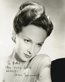 JOAN GREENWOOD - AUTOGRAPHED INSCRIBED PHOTOGRAPH