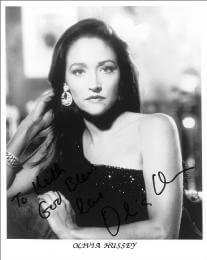 OLIVIA HUSSEY - INSCRIBED PRINTED PHOTOGRAPH SIGNED IN INK