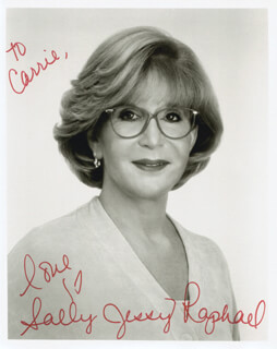 SALLY JESSY RAPHAEL - AUTOGRAPHED INSCRIBED PHOTOGRAPH