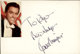 Autographs: GOWER CHAMPION - AUTOGRAPH NOTE SIGNED