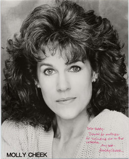 MOLLY CHEEK - AUTOGRAPHED INSCRIBED PHOTOGRAPH