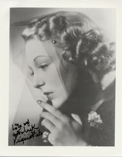 VIRGINIA FIELD - AUTOGRAPHED SIGNED PHOTOGRAPH