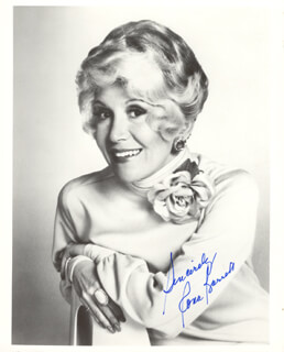 RONA BARRETT - AUTOGRAPHED SIGNED PHOTOGRAPH