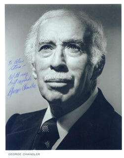 Autographs: GEORGE CHANDLER - PHOTOGRAPH SIGNED