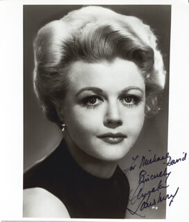 ANGELA LANSBURY - AUTOGRAPHED INSCRIBED PHOTOGRAPH