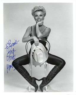 MITZI GAYNOR - AUTOGRAPHED INSCRIBED PHOTOGRAPH