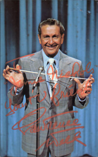 LAWRENCE WELK - INSCRIBED PICTURE POSTCARD SIGNED