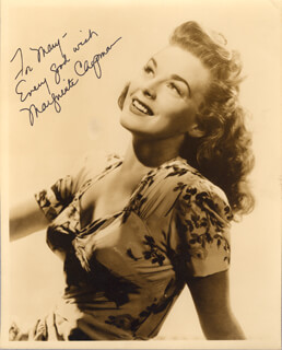 MARGUERITE CHAPMAN - AUTOGRAPHED INSCRIBED PHOTOGRAPH