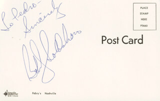 BOBBY GOLDSBORO - AUTOGRAPH NOTE SIGNED