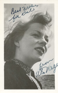 UTA HAGEN - INSCRIBED PICTURE POSTCARD SIGNED