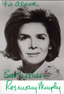 ROSEMARY MURPHY - AUTOGRAPHED INSCRIBED PHOTOGRAPH