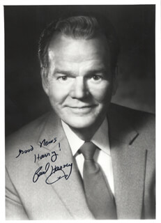 PAUL HARVEY - AUTOGRAPHED INSCRIBED PHOTOGRAPH