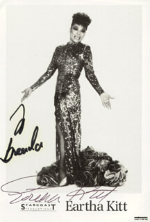 EARTHA KITT - AUTOGRAPHED INSCRIBED PHOTOGRAPH