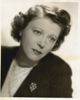 RUTH CHATTERTON - AUTOGRAPHED INSCRIBED PHOTOGRAPH