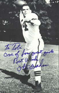 OTTO GRAHAM - INSCRIBED PICTURE POSTCARD SIGNED