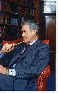 CYRUS VANCE - AUTOGRAPHED SIGNED PHOTOGRAPH