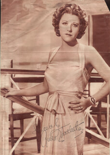 RUTH CHATTERTON - MAGAZINE PHOTOGRAPH SIGNED