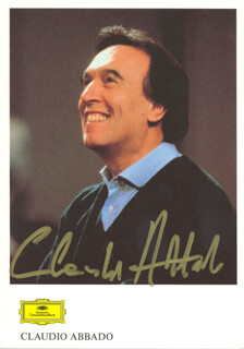 CLAUDIO ABBADO - PRINTED PHOTOGRAPH SIGNED IN INK