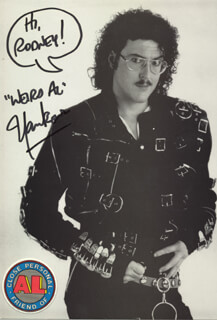 AL WEIRD AL YANKOVIC - AUTOGRAPHED INSCRIBED PHOTOGRAPH