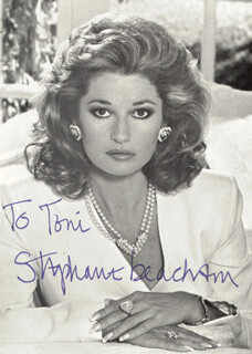 STEPHANIE BEACHAM - AUTOGRAPHED INSCRIBED PHOTOGRAPH