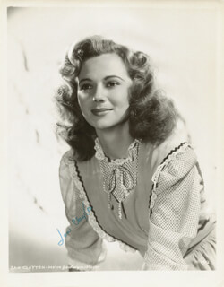 JAN CLAYTON - AUTOGRAPHED SIGNED PHOTOGRAPH